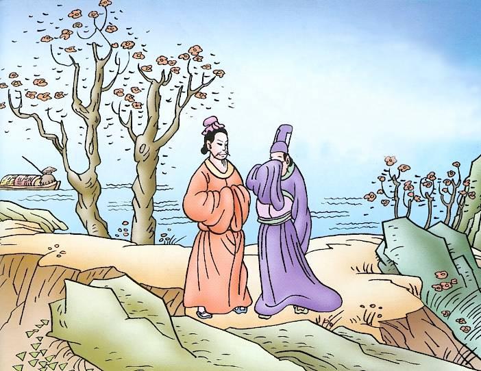 正是江南好风景,落花时节又逢君