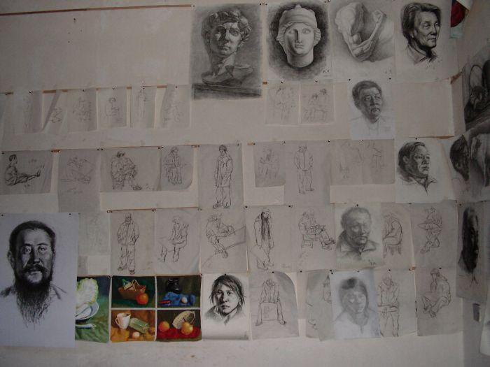 学生素描美术作品合辑图片